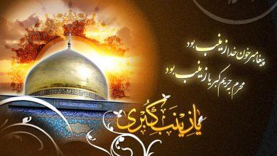 تصویر از وفات حضرت زینب سلام الله علیها برعموم شیعیان تسلیت باد